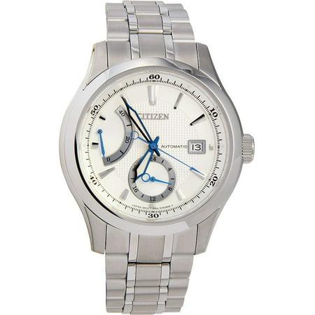 Men S Nb3010 52a Signature Grand Classic Automatic Silver Watch