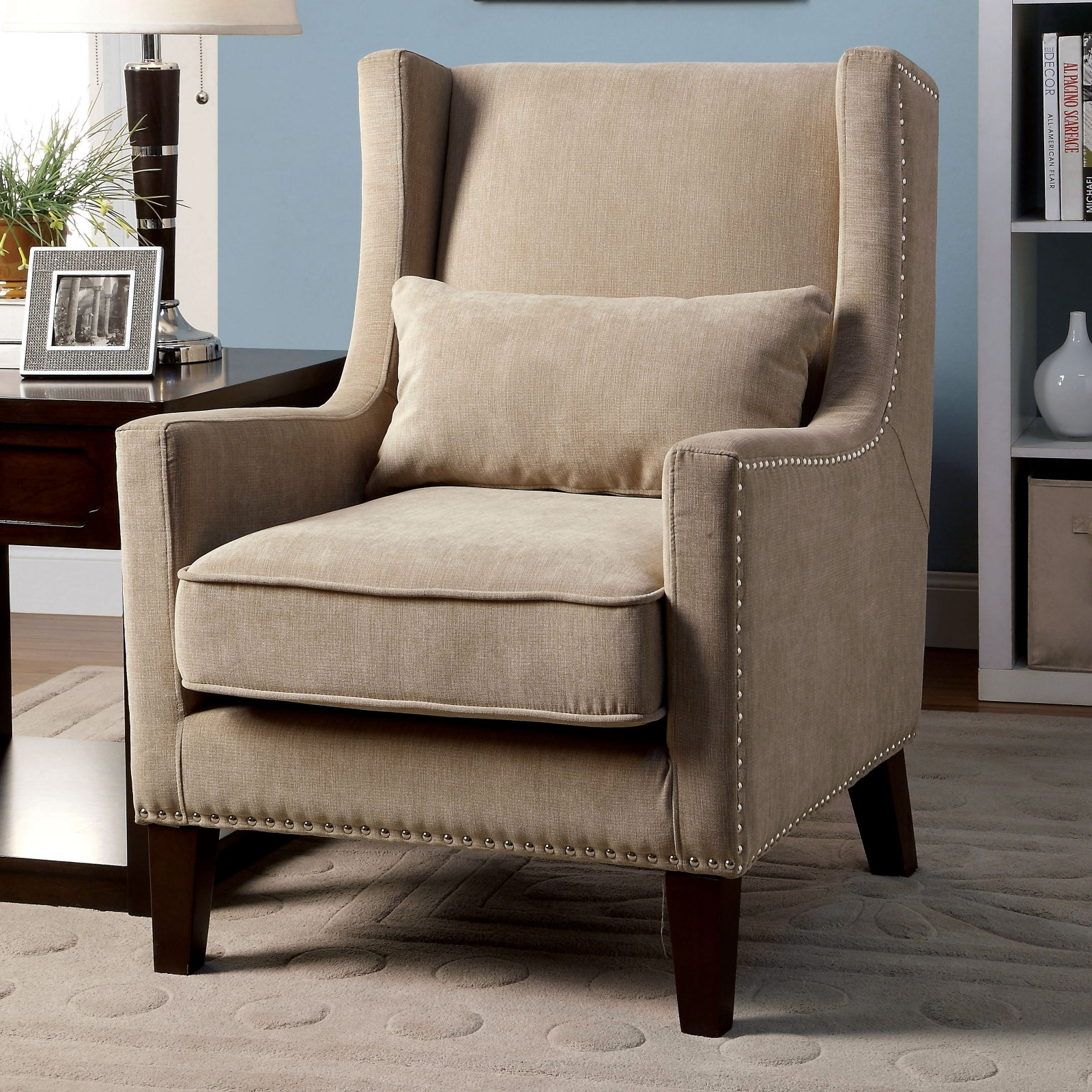 furniture of america keller wingback chair