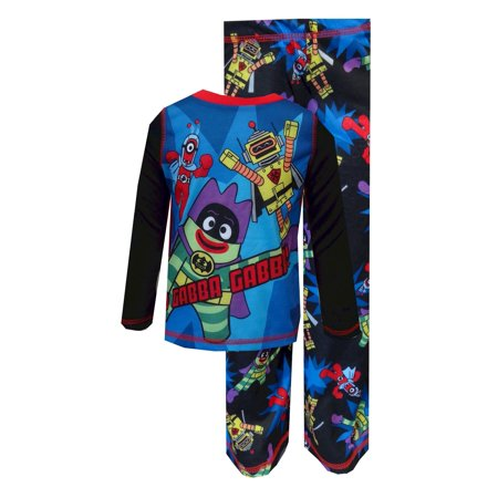 Yo Gabba Gabba Superhero Cast Pajama with - Toddler Superhero Pajamas With Cape
