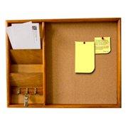 Home Basics Wall-Mounted Wood Bulletin Board, Pine