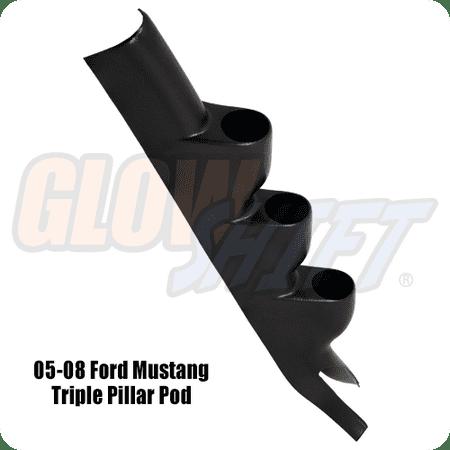 2005-2014 Ford Mustang Hardtop Triple Gauge Pillar Pod
