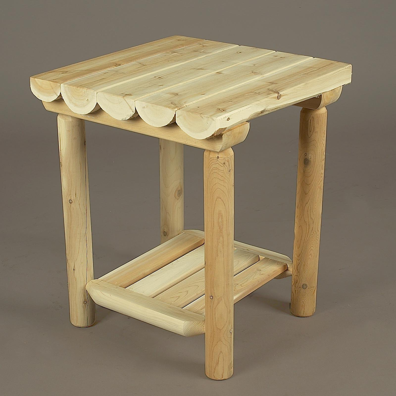 Rustic Natural Cedar Furniture Gateway Scalloped Edge Nightstand
