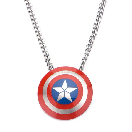 America Pendant Jewelry - Marvel Captain America Civil War Shield Logo Pendant Stainless Steel Necklace