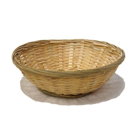 Bamboo Round Bread Bowl Basket - 7in