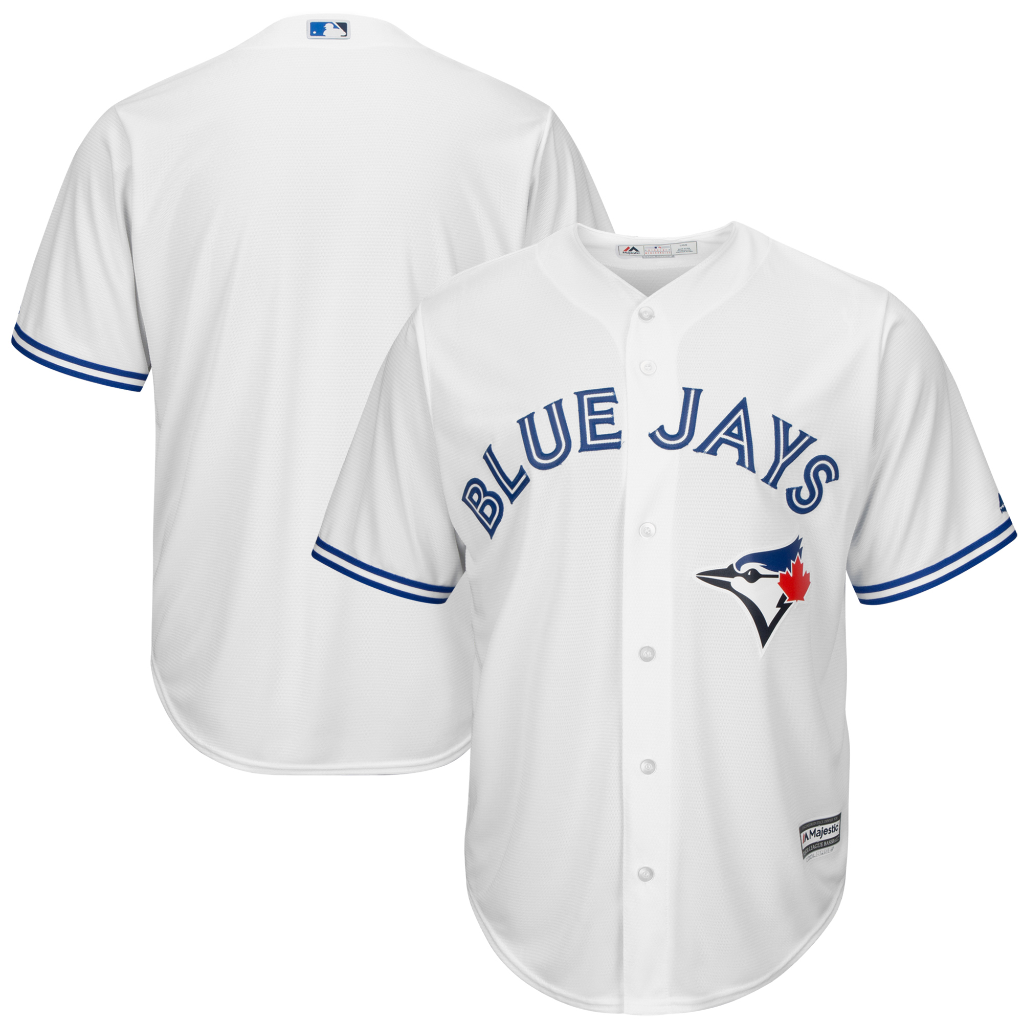 Men's Majestic White Toronto Blue Jays Big & Tall Cool Base Team Jersey