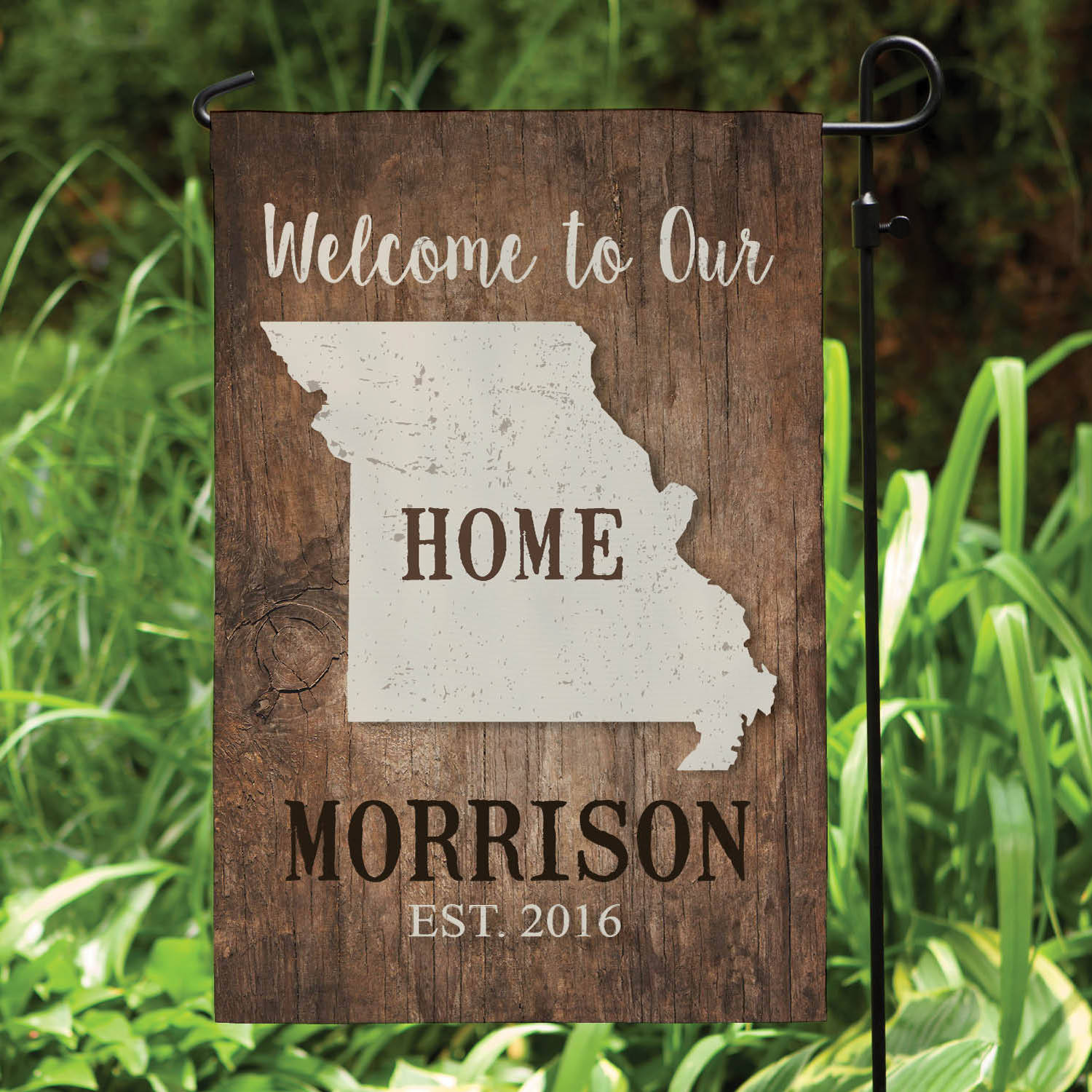 Home State Personalized Garden Flag