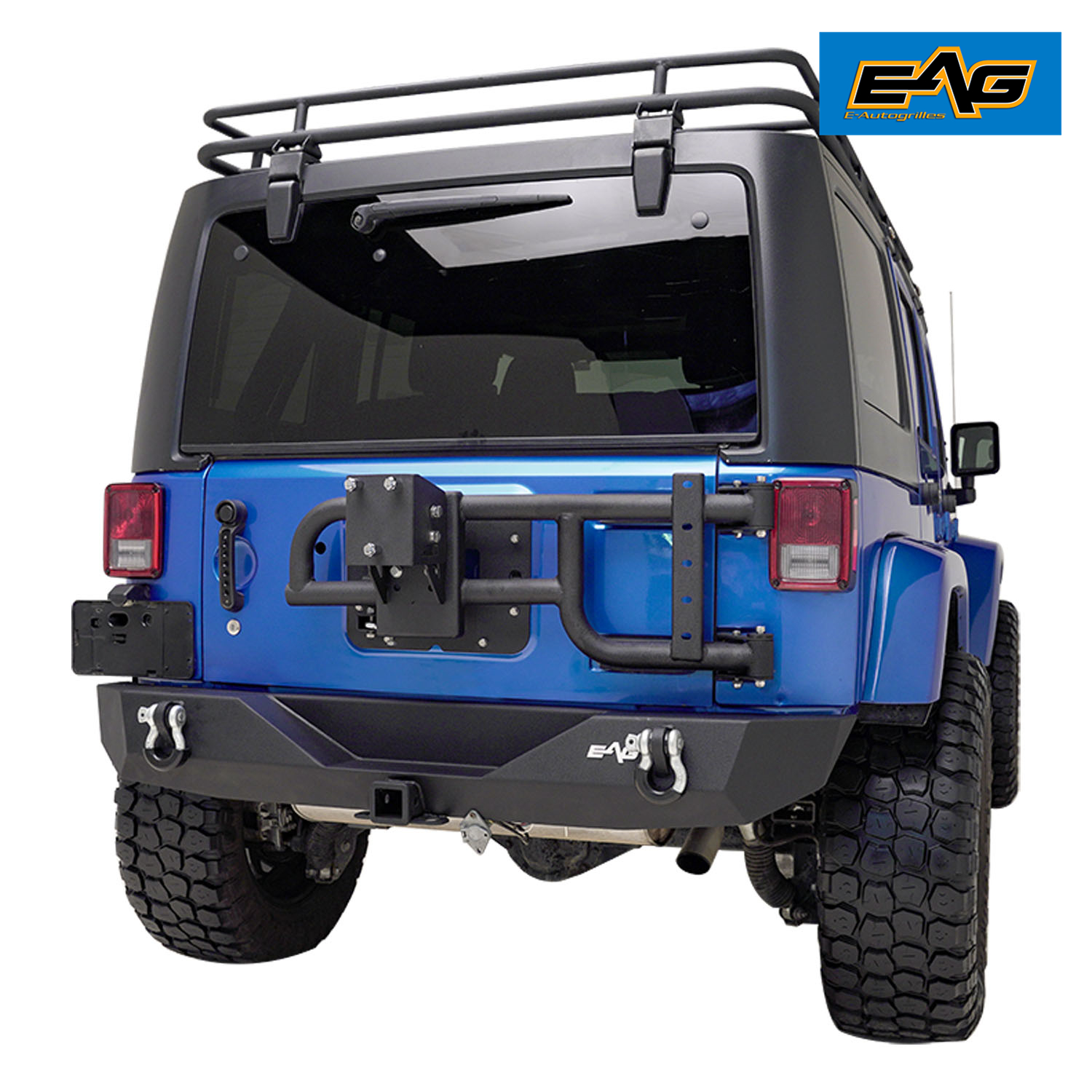 Exterior Accessories EAG Tire Carrier for OEM Tail Gate Compatible ...