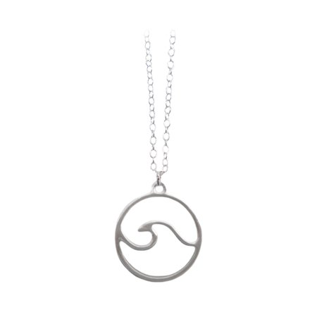 - NEW Cruz Accessories Satin Finish Wave Pendant Necklace