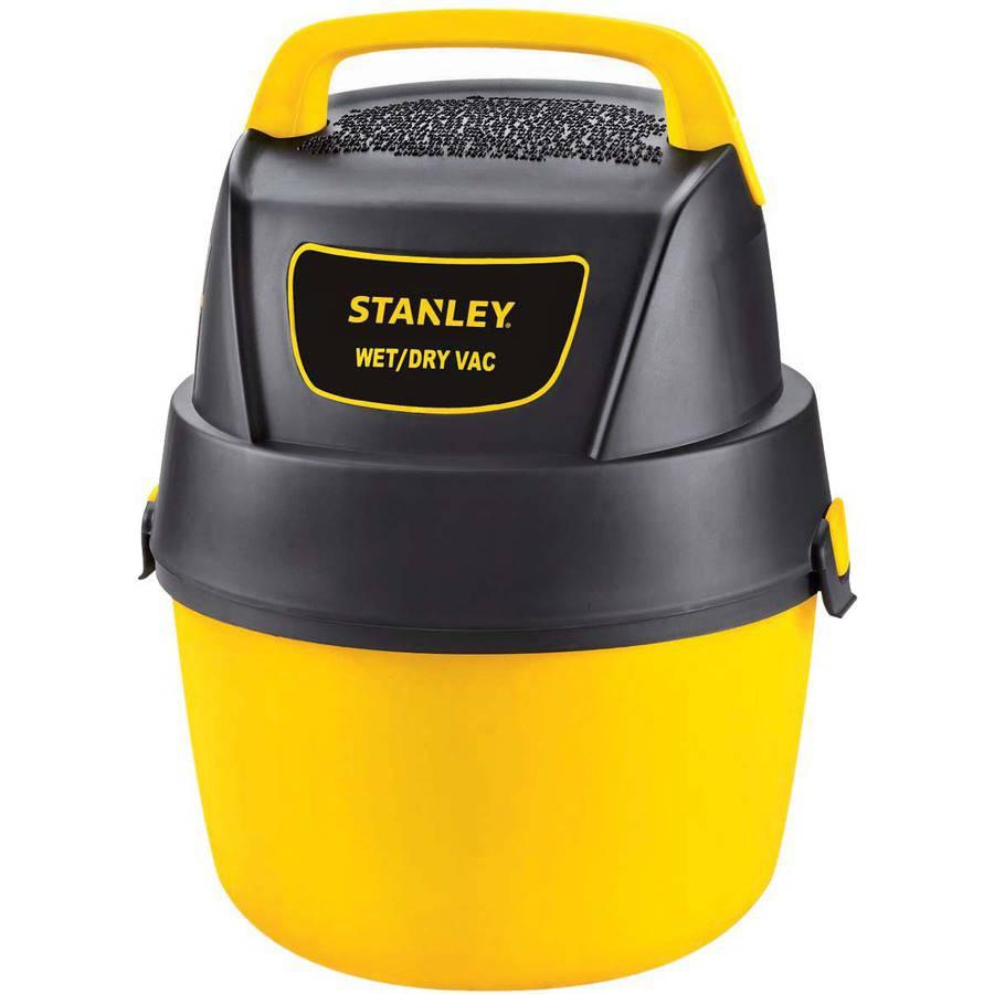 Stanley 1-gallon, 1.5-peak horse power, Hang-Up portable wet dry vacuum