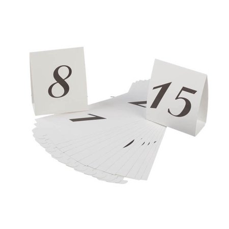 VL2016A 1-15 Table Reservation Number Tents Place Card, White, 15-Pack, Table number markers tents place cards By Darice