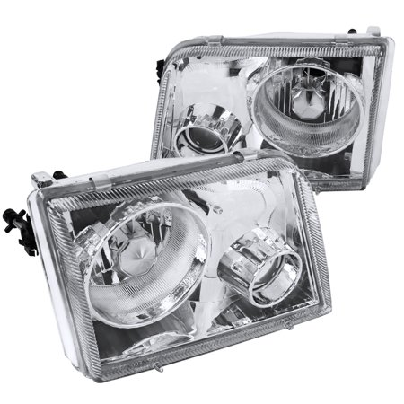Spec-D Tuning For 1993-1997 Ford Ranger Chrome Projector Headlights 1993 1994 1995 1996 1997 (Left+Right) 1995 Ford Aspire Specs