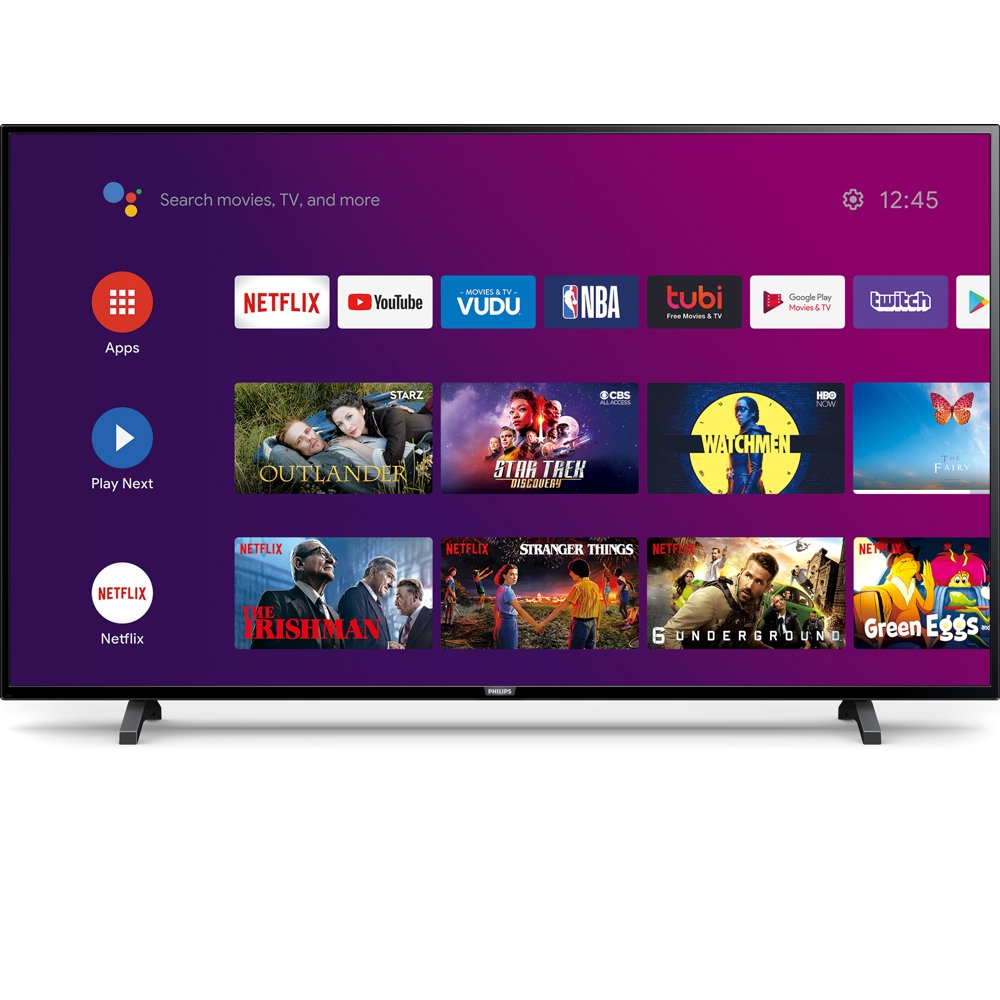 """Philips 65"""" Class 4K Ultra HD (2160p) Android Smart LED TV with Google Assistant (65PFL5604/F7)"""