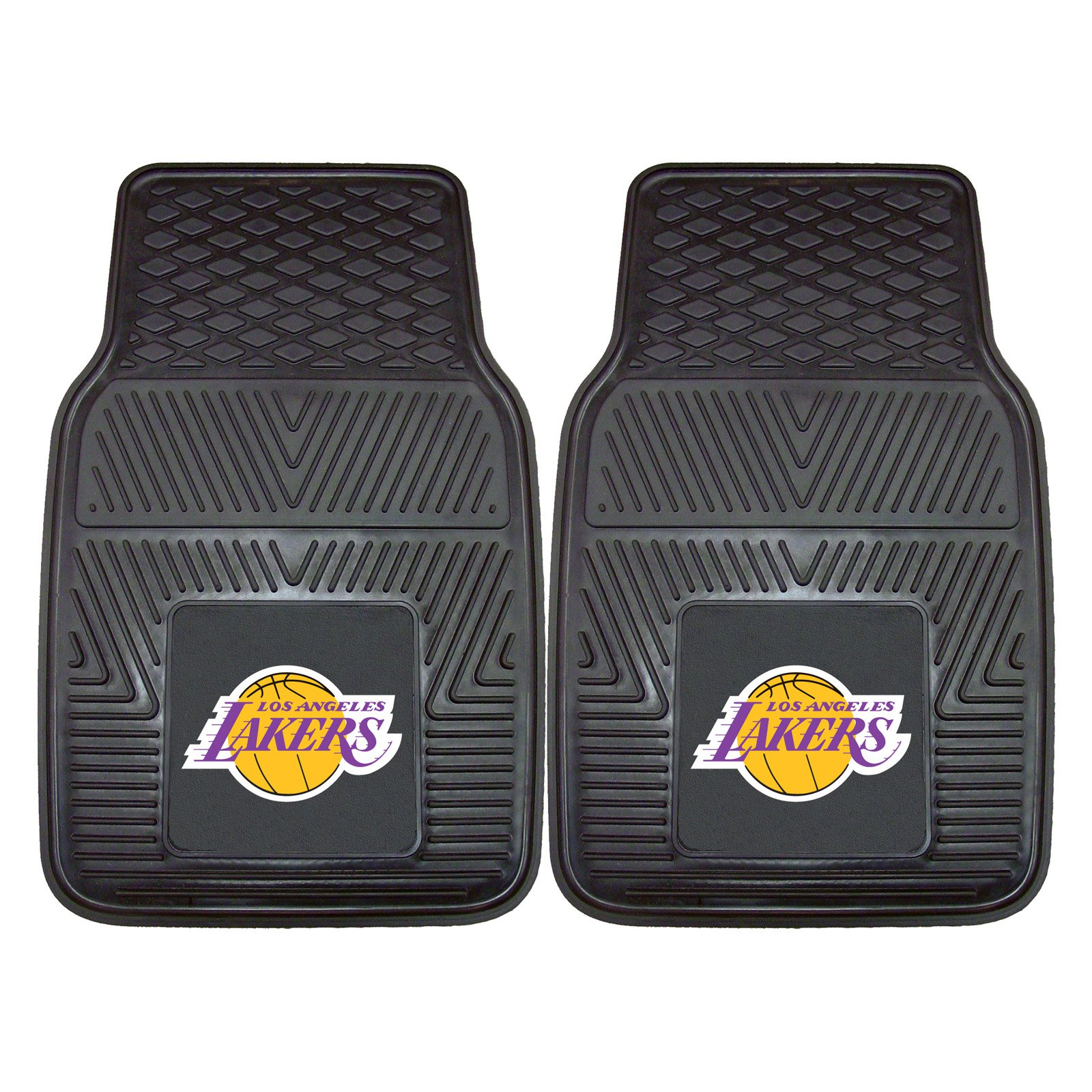 Los Angeles Lakers Heavy Duty Vinyl Car Mats - Set of 2