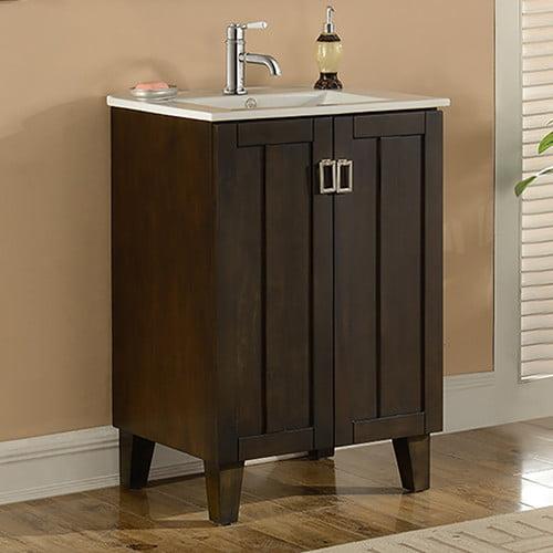 InFurniture IN 32 Series 24'' Single Sink Bathroom Vanity Set