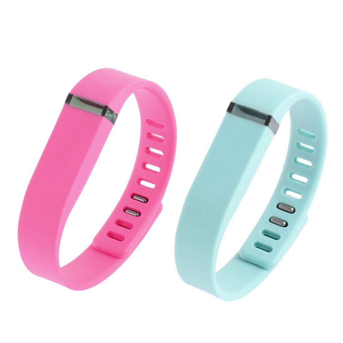 2 Pcs  Wrist Watch Band Strap w Clasps for Fitbit Flex Bracelet