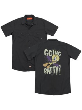 Looney Tunes - Going Batty (Back Print) - Work Shirt - Large