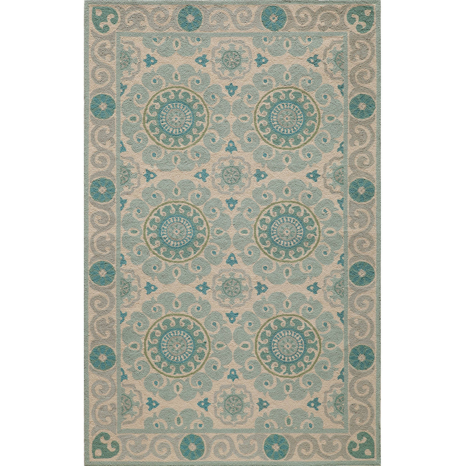 Momeni Suzani Hook Medallion Area Rug