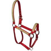 CCHR1401 P Equine Elite Horse Halter, Christmas Cheer, Stylish functional halter for your horse By Red Haute Horse