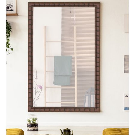 Hitchcock Butterfield Dark Brown Dynasty Bamboo Wall Mirror ()