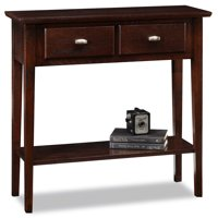 Leick Furniture Chocolate Oak Console Table