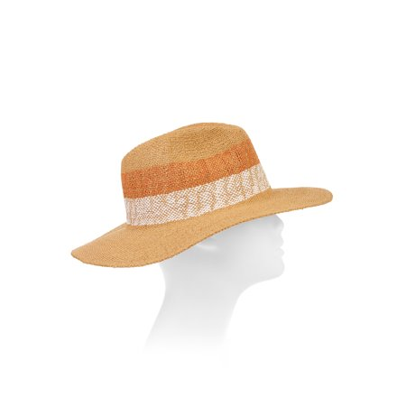 Eliza May Rose Women's Cabana Straw Fedora