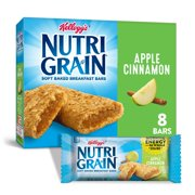 Kellogg's Nutri-Grain Soft Baked Breakfast Bars, Apple Cinnamon, 10.4 Oz, 8 Ct