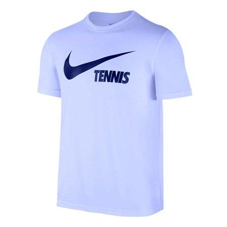 Fit 2xl Tennis New Graphic Nike Shirt Tee Crewneck T Dri Mens Blue XUtqA