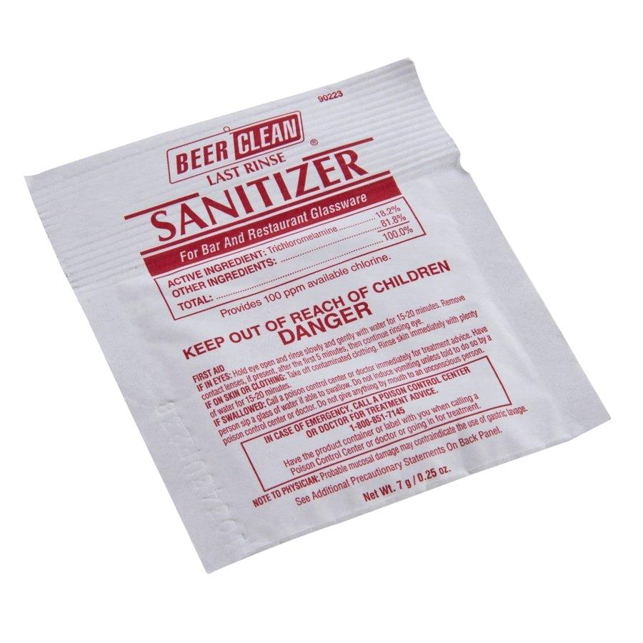 Diversey Powder Beer Glass Sanitizer Yellow, 0.25 oz. | 100 Case by DIVERSEY