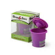 Brew & Save Reusable Coffee Filter for Keurig 1.0 and 2.0 Brewers, Purple