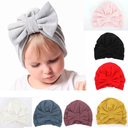 Baby Turban Toddler Kids Boy Girl India Hat Lovely Soft Hat (Girls Pink Cowgirl Hat)