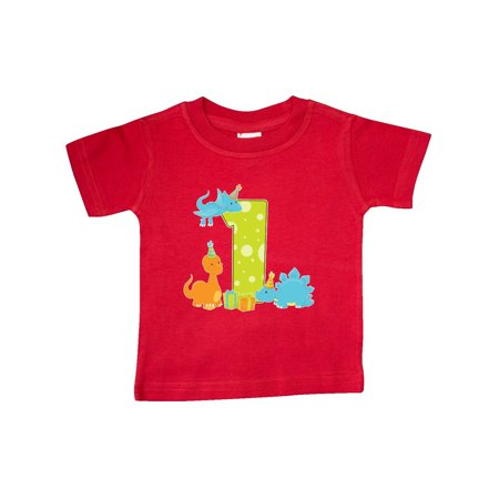 4bdd0249c Inktastic - Dinosaur First Birthday Party Baby T-Shirt - Walmart.com