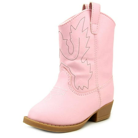 Pink Baby Bootie - Baby Deer Layla Toddler  Round Toe Synthetic Pink Bootie