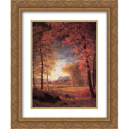 Albert Bierstadt 2x Matted 20x24 Gold Ornate Framed Art Print