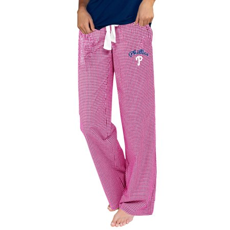Philadelphia Phillies Pants - Philadelphia Phillies Concepts Sport Women's Tradition Woven Pants - Pink/White