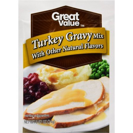(4 Pack) Great Value Gravy Mix, Turkey, 0.87 Oz