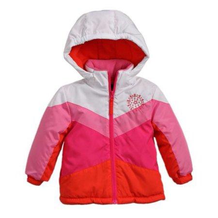 Rothschild Infant & Toddler Girls Pink Coat Puffer Ski Jacket Fleece (Rothschild Hat)