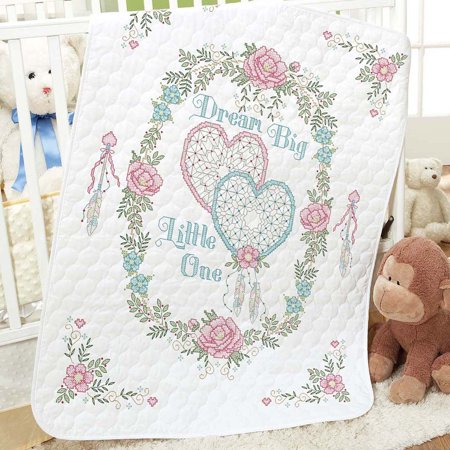 Herrschners® Pre-Quilted Dream Big Baby Quilt Stamped Cross-Stitch