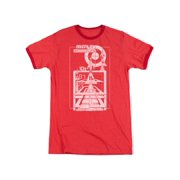 Atari Missile Command Launch Countdown Distressed Adult Ringer T-Shirt Tee