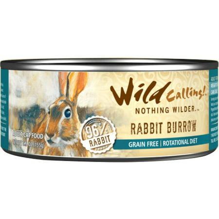 Wild Calling Rabbit Burrow Canned Cat Food  5 5 Oz