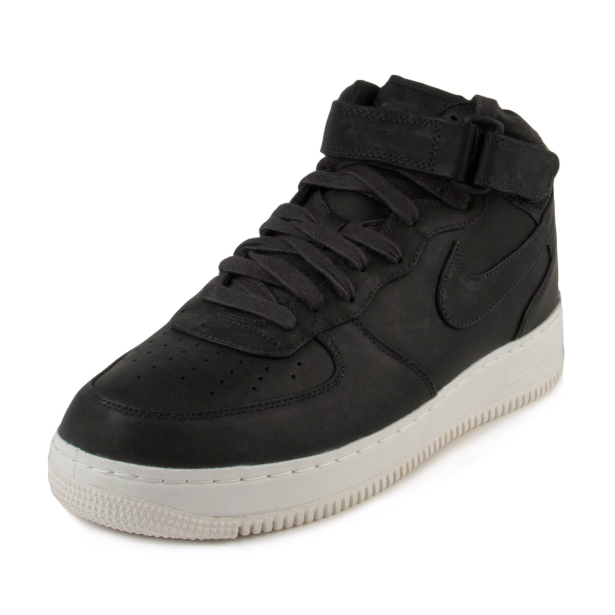 Nike Mens Lab Air Force 1 Mid Black/Sail 905619-001