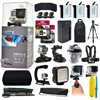 """GoPro Hero 4 HERO4 Silver CHDHY-401 with 128GB Memory + 3x Batteries + Travel Charger + Backpack + 60  Tripod + Head/Chest Strap + Suction Cup + Hand Glove + LED Light + Stabilizer + Case + More! With a built-in touch screen LCD for composing shots and accessing the menu, the GoPro HERO4 Silver eliminates the need for an LCD BacPac. It is able to capture Full HD 1080p at up to 60 fps and - for even more detailed shots - capture 2.7K (2704 x 1520) at 30 fps and 4K (3840 x 2160) at 15 fps. There are a number of other frame rates and resolutions as well, including a 100 fps mode ideal for creating slow motion effects that is available in 960p and 720p. But the HERO Silver's capabilities don't stop with video. It can also take 12-megapixel stills, as individual shots, in intervals for stitching together time-lapse movies, or in momentary bursts of up to 30 photos per second - the latter helping ensure you catch fast action at just the right moment.<br><br><b>In the box:</b><br>- GoPro HERO4 Silver<br>- Rechargeable Battery<br>- Standard Housing (131')<br>- Skeleton Backdoor<br>- Curved Adhesive Mount<br>- Flat Adhesive Mount<br>- Quick Release Buckle<br>- 3-Way Pivot Arm<br>- USB Cable<br><br><b>47th Street Photo Accessories:</b><br>- Two 64GB Transcend Class 10 microSD Cards (633x)<br>- Replacement Li-ion Battery Pack for GoPro (3)<br>- Replacement AC/DC Charger with Car Plug<br>- Weather and Stain Resistant Travel Backpack<br>- Pro Series 60 Inch Tripod Full Size Tripod<br>- Hand Glove Wrist Strap<br>- Car Suction Cup Mount<br>- Head/Helmet Strap Mount<br>- Chest Mount<br>- Opteka MP100 67"""" Professional Monopod<br>- Opteka VL5 LED Video Light<br>- Opteka xGrip Stabilizing Action Handle<br>- Premium Compact Case for GoPro<br>- Floating Float Hand Grip Bobber<br>- Opteka HG1 Stabilizing Basic Handle<br>- Memory Card Wallet<br>- Tripod Adapter (3)<br>- 47th Street Photo Cleaning Cloth<br>"""