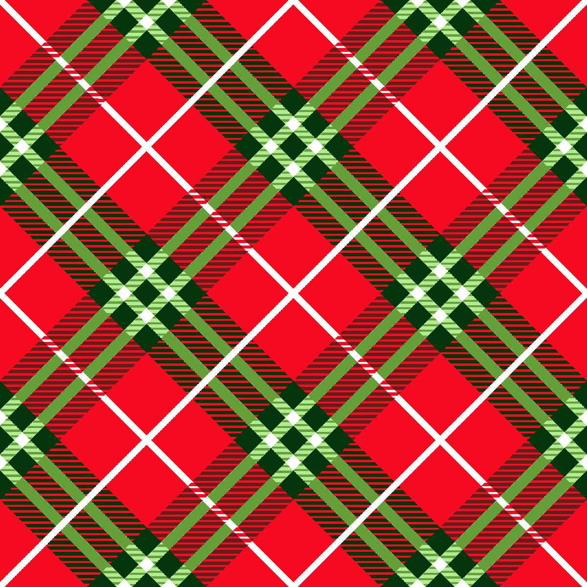 """FABRIC EDITIONS, COTTON FABRIC, FAT QUARTER 18""""X21"""", HOLIDAY TRADITIONAL PLAID"""