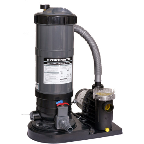 Blue Wave Hydro 90 Sq Ft Cartridge Filter System with 1 HP Pump for Above-Ground Pools