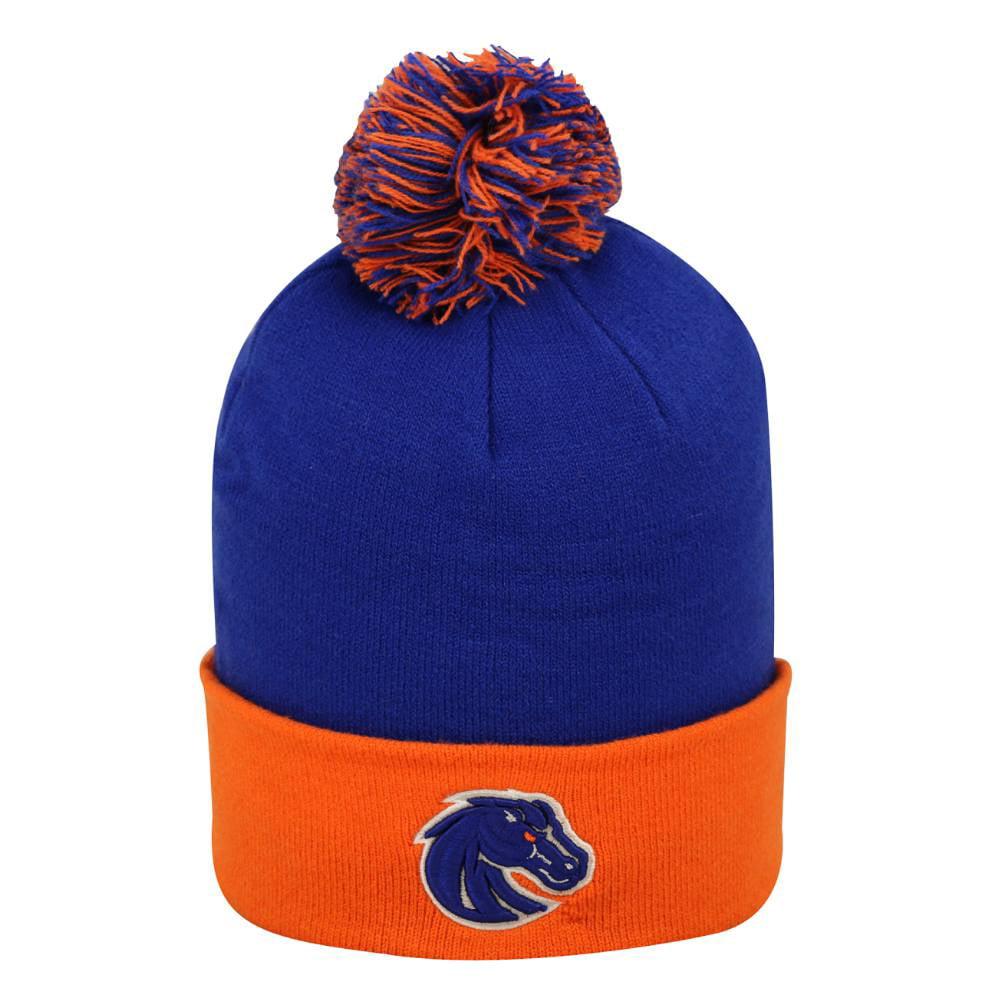 Boise State Boys Blue & Orange Broncos Beanie Winter Hat by