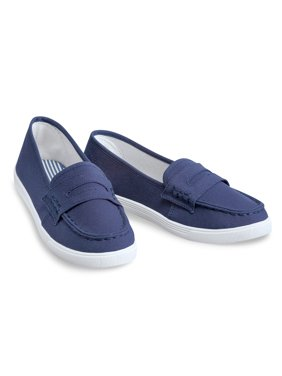 4ff08376f9be5 Product Image Classic Boat Shoe Loafer Slip On Canvas Sneakers