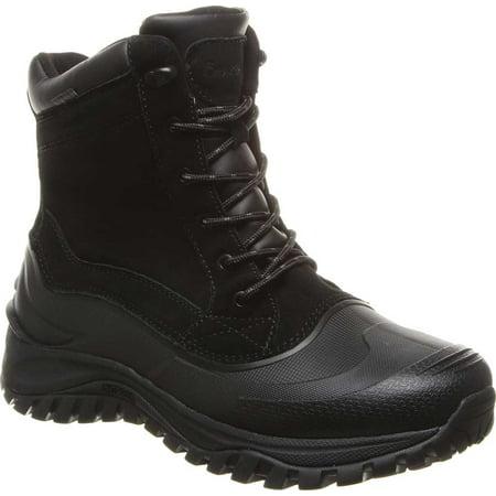 Men's Bearpaw Teton Waterproof Boot Black II Suede 13 M