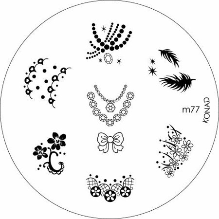 Konad Stamping Nail Art Image Plate - M77 - image 1 of 1