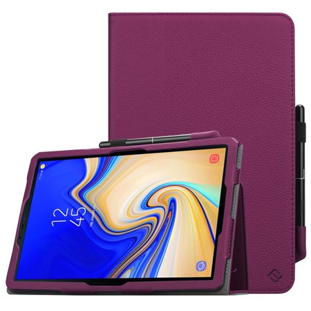 online retailer 112cb 87c63 Fintie Folio Case for Samsung Galaxy Tab S4 10.5 2018 Model SM-T830/T837  Leather Stand Cover with S Pen Holder Purple