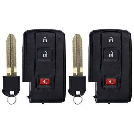 - 2 PACK KeylessOption Keyless Entry Remote Control Car Key Fob Replacement for Prius MOZB21TG for 2004-2009 Toyota Prius - non smart, original key has a black logo