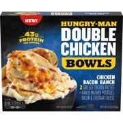 Hungry-Man Double Chicken Bacon Ranch Bowls With Mashed Potatoes, Frozen, 15 oz.